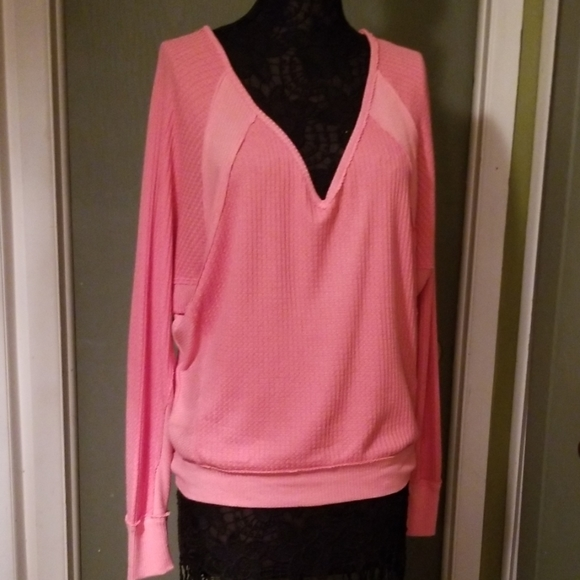 Freepeople prime rose thermal top sz small